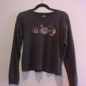 black and floral long sleeve